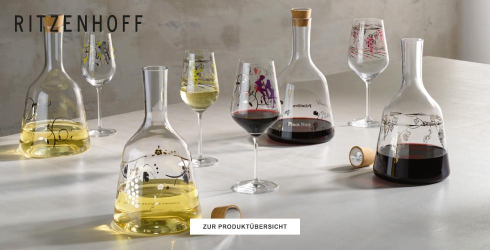 Große Auswahl an Gläsern von Ritzenhoff