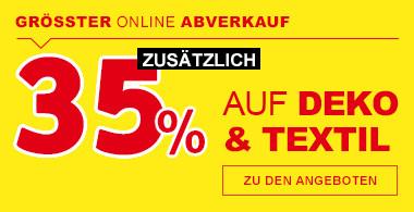 35% größter online Abverkauf
