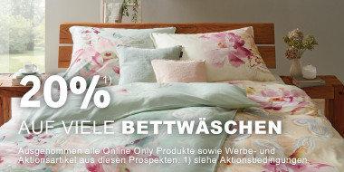 20% auf viele Bettwäschen
