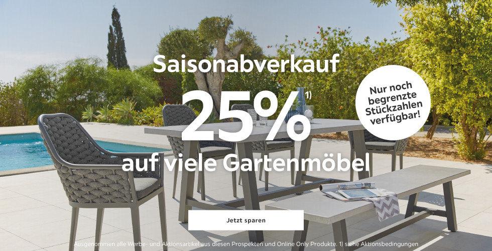 25% auf viele Gartenmöbel