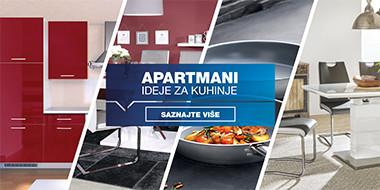 Apartmani - ideje za kuhinje