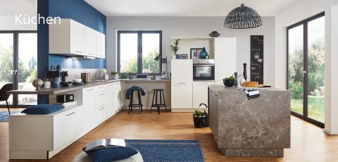 Küchen weiß Betonoptik