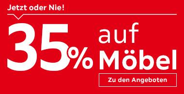 35% auf Möbel