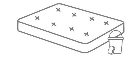 Matratze reinigen Putzeimer Schwamm