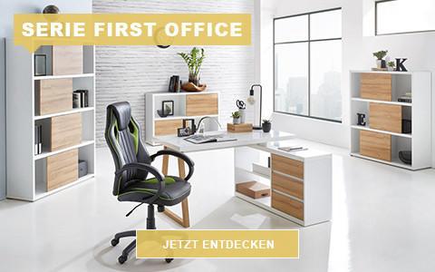 Büro First Office eichefarben weiß