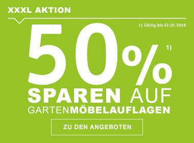 50% auf Gartenmöbelauflagen