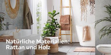 Natürliche Materialien: Rattan und Holz
