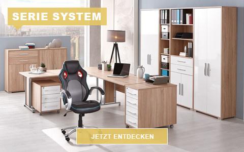 Büro System eichefarben