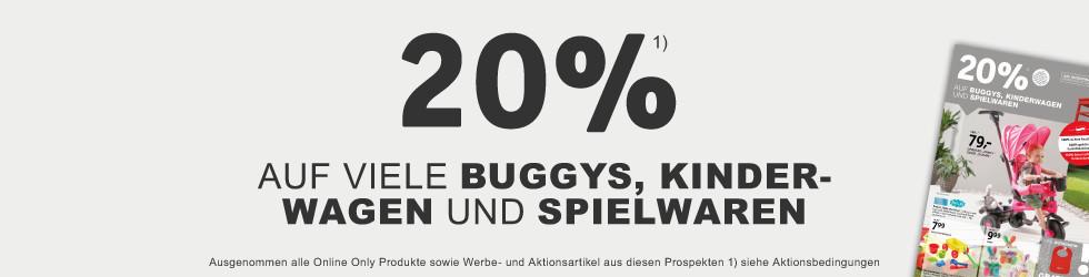 20% auf viele Buggies und Kinderwaegen