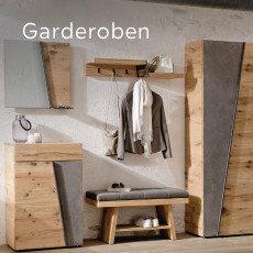 Voglauer Garderoben Naturholz Braun Grau