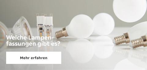 Welche Lampen Fassungen gibt es?