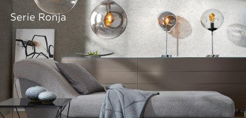Leuchten Serie Ronja Grau Orange