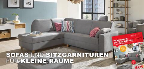 Sofas und Sitzgarnituren für kleine Räume