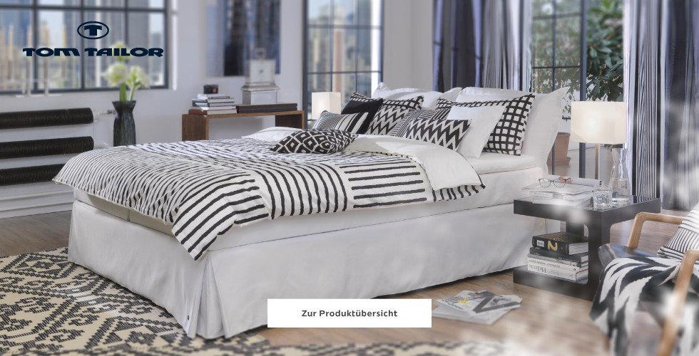 Tom Tailor Betten Bettwäsche Weiß Blau