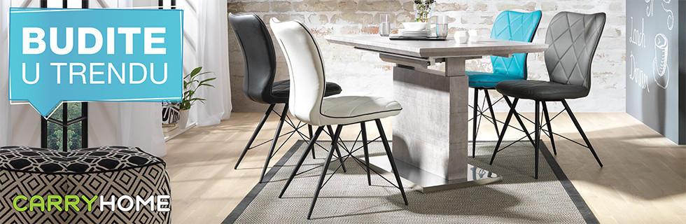 Moderan blagovaonski stol i stolice Lesnina XXXL
