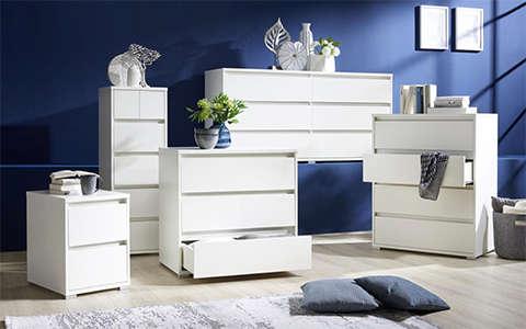 bijele komode za apartman