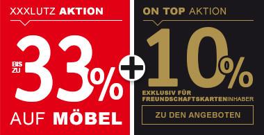 33% auf Möbel + 10% ON TOP für Freundschaftskarteninhaber