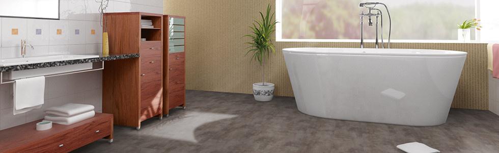 Klick-Vinylboden verlegen Badezimmer