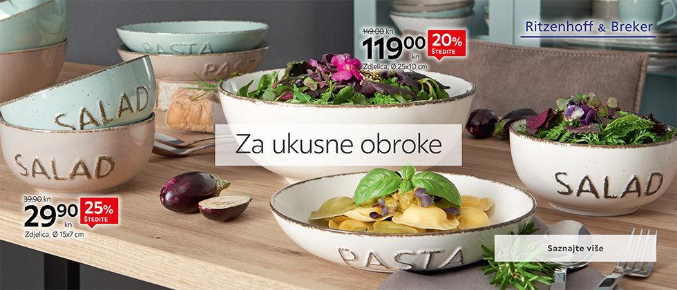 Moderna zdjelica i kvalitetni tanjuri Lesnina XXXL