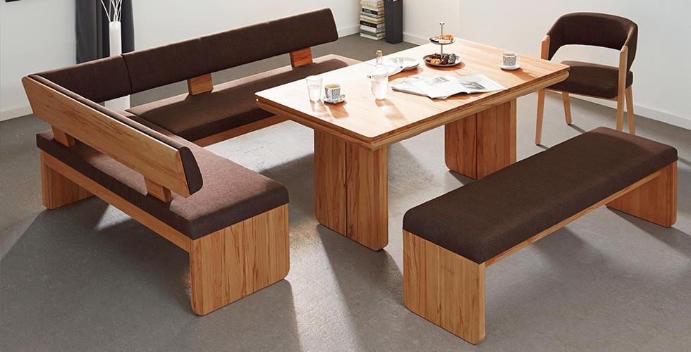 Rohová lavice dřevo potah hnědý