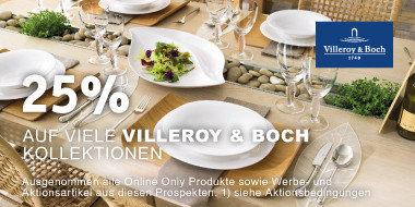 25% auf viele Villeroy & Boch Kollektionen