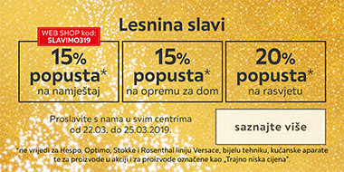 Lesnina slavi s popustima XXXL Lesnina