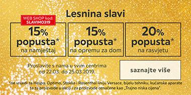 Lesnina slavi s popustima XXXL Lesnina