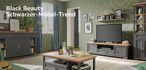 Black Beauty Schwarzer Möbel Trend