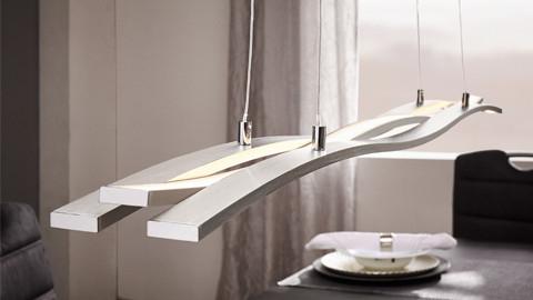 Závěsné LED svítidlo stříbrná