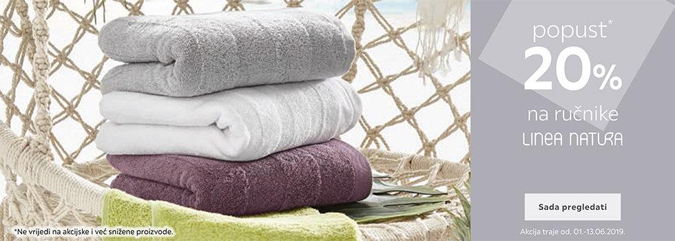 20% popusta na Linea Natura ručnike