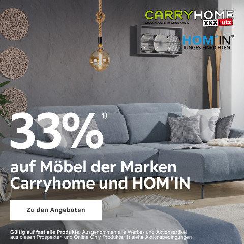 33% auf Möbel der Marken Carryhome  und HOM'IN