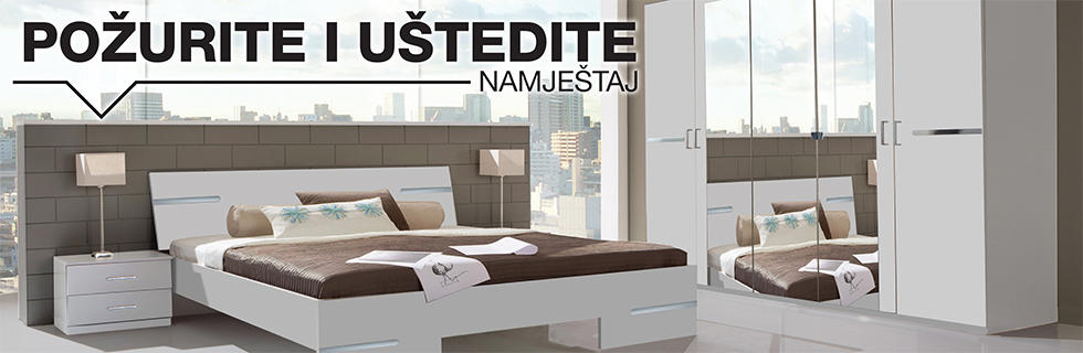 Kvalitetna i moderna spavaća soba Lesnina XXXL