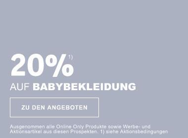 20% auf Babykleidung