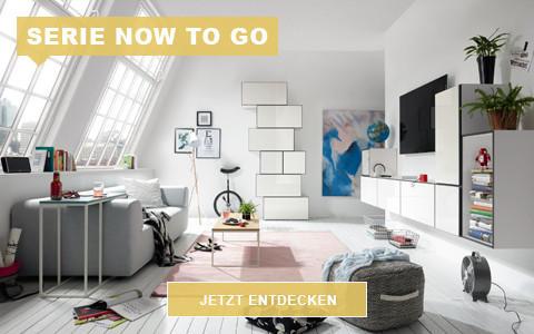 Wohnzimmer now to go weiß