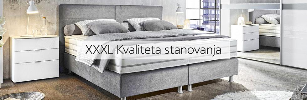 Moderan boxspring krevet sive boje Lesnina XXXL