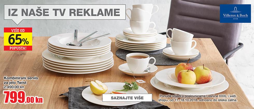 akcija servis za jelo Lesnina XXXL