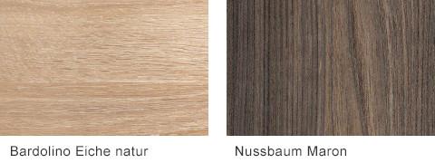 Set One by Musterring Elba Arbeitsplatten Bardolino Eiche natur Nussbaum Maron