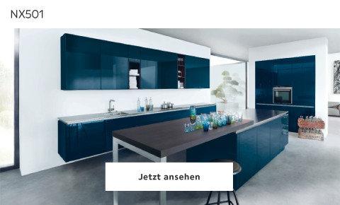 Next Küche schwarz hochglanz NX501
