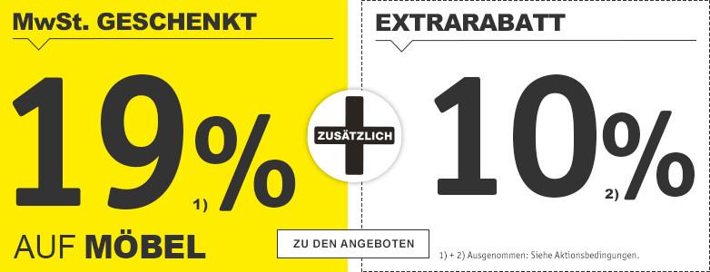 19% + 10% Extrarabatt