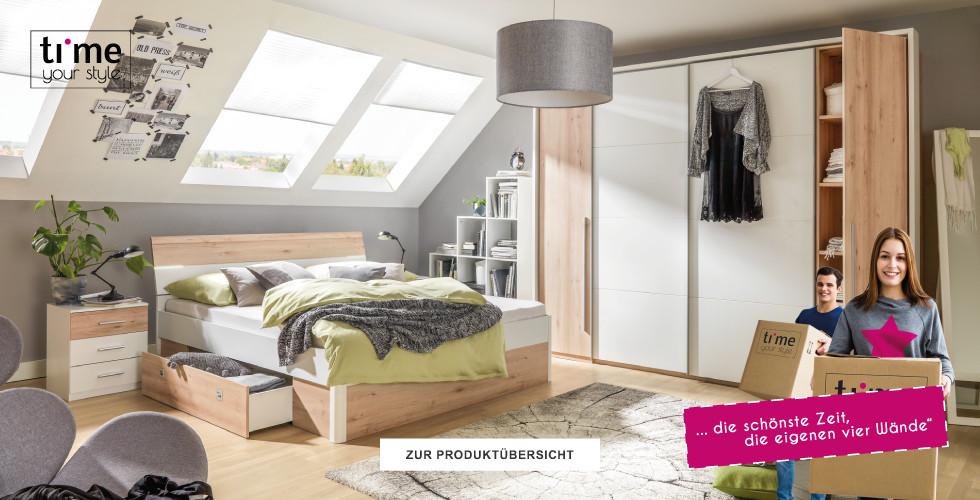 Style dein Schlafzimmer mit vielen Produkten der Marke Time