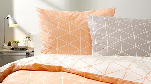 ESPOSA Bettwäsche orange und grau