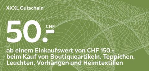 XXXL Gutschein im Wert von 50.- CHF