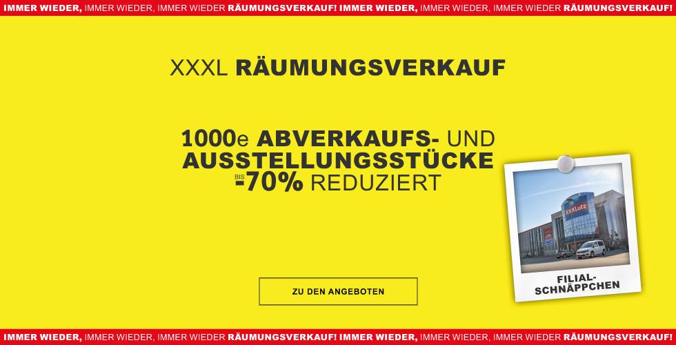 XXXL Raeumungsverkauf - Schnaeppchen