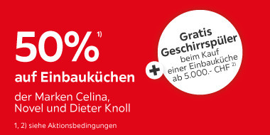 50% auf Einbauküchen