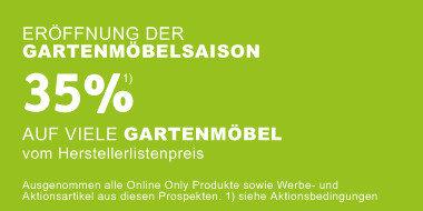 Eröffnung der Gartenmöbelsaison - 35% auf viele Gartenmöbel  vom Herstellerlistenpreis
