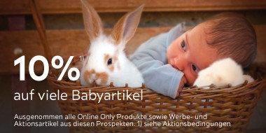 10% auf viele Babyartikel