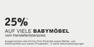 25% auf viele Babymöbel vom Herstellerlistenpreis
