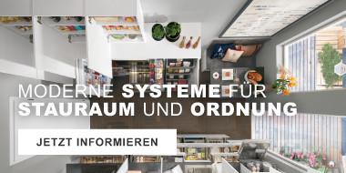 Moderne Systeme für Stauraum und Ordnung