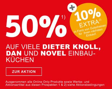 50 Prozent auf Dieter Knoll, Dan und Novel Einbaukuechen