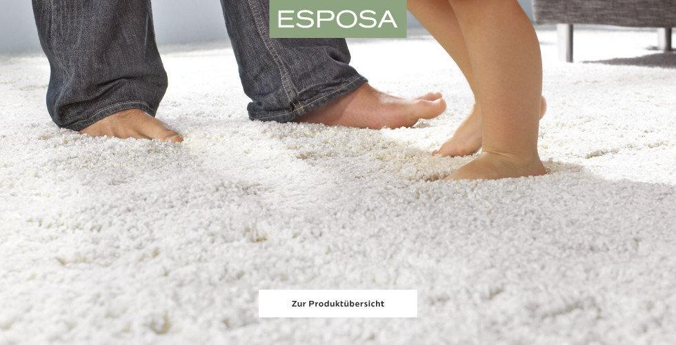 Esposa Wohntextilien Teppich Weiß
